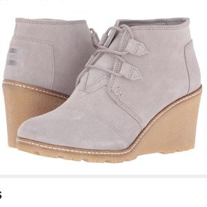 TOM Desert wedge crepe drizzle grey size 8.5